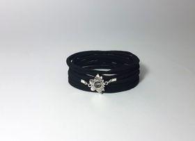 Lakota Inspirations Sacred Lotus Crystal Charcoal Wrap Bracelet