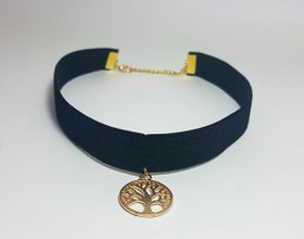Lakota Inspirations Gold Tree of Life Velvet Choker