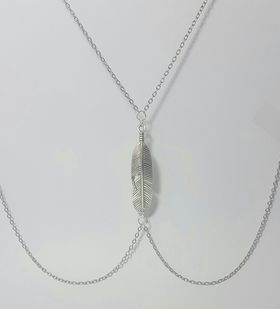 Lakota Inspirations Silver Feather Body Chain