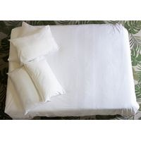 Loads Of Living 200TC White Embroidered Duvet Cover Set