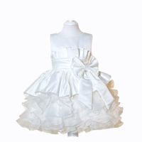 Princess Flowergirl Dress With Fanned Bow - White
