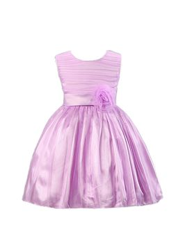 Princess Flowergirl Overlay Dress - Purple