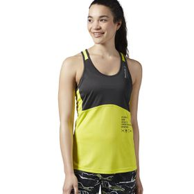 Women's Reebok Obstacle Terrain Racing Graphic Reveal Tank Top