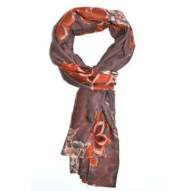 Lily & Rose Neutral Colours Flower Print Scarf TLS075