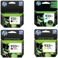 HP Ink Combo Pack Black 932 XL/932XL/HP932/HP932XL & Cyan, Yellow, Magenta 933XL/933 XL/HP933/HP933XL OEM