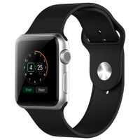 Ökotec Soft Silicone 38mm S/M Strap for Apple Watch - Black