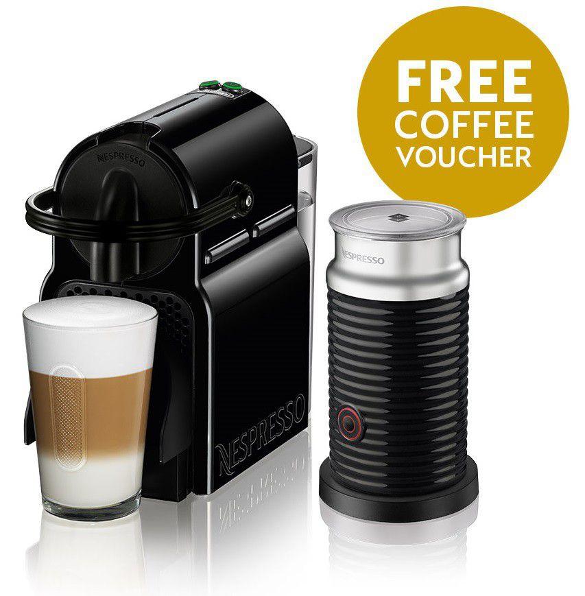 Nespresso - Inissia Bundle - Black - 90009505   Buy Online in ...
