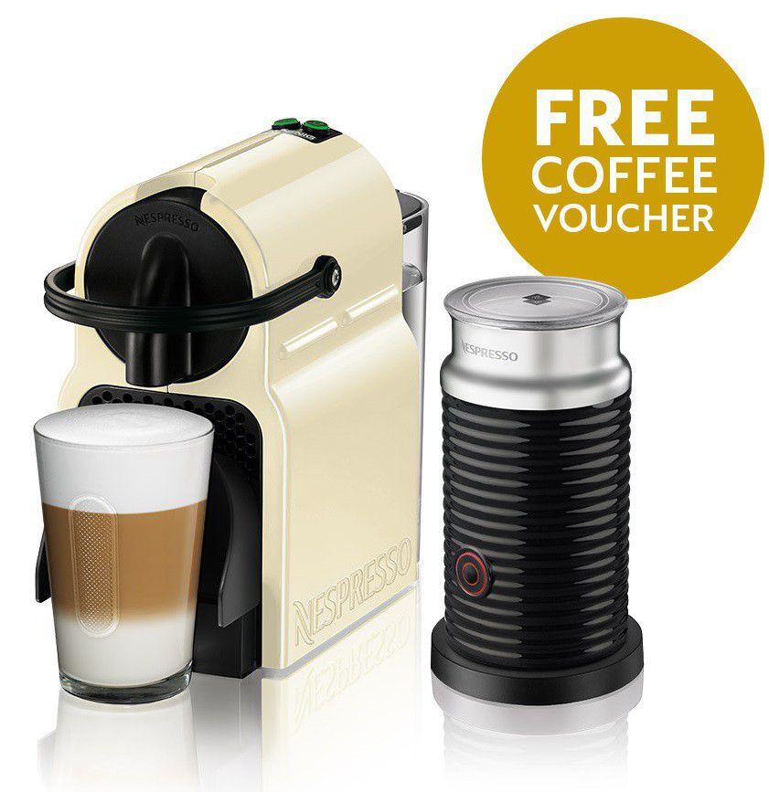 Nespresso - Inissia Bundle - Creamy White - 90009515 | Buy Online ...