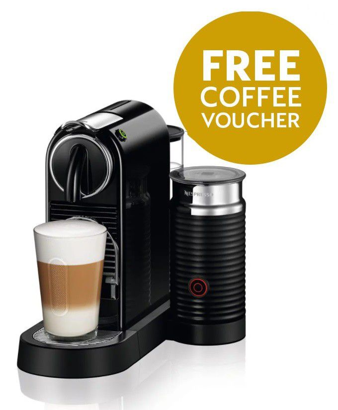 Nespresso - Citiz And Milk - Black - D122-ZA-BK-NE | Buy Online in ...