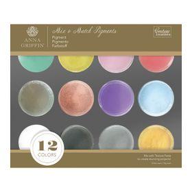 Couture Creations Anna Griffin Mix & Match Pigments (12 Piece Set, 10ml)