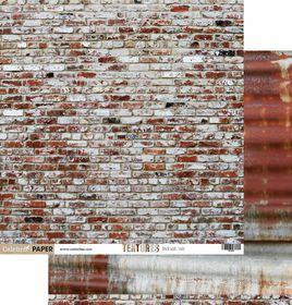 Celebr8 Textures Double Sided Paper - Brick Wall & Rust (10 Sheets)