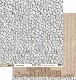 Celebr8 Textures Double Sided Paper - Stone Paving & Corrugated Board (10 Sheets)