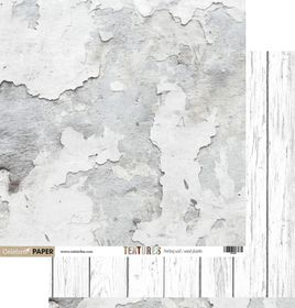 Celebr8 Textures Double Sided Paper - Peeling Wall & Wooden Planks (10 Sheets)