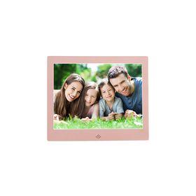 """Fotomate 10"""" Digital Photo Frame - Rose Pink Metallic"""