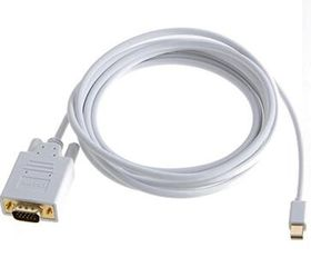 Gold Plated Connector Mini Displayport (DP) 1.2 to VGA 1920 x 1200 Output Adaptor/Converter Cable