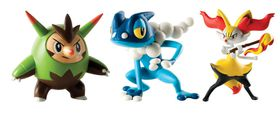 Poke Action Figure 3 Pack - Quilladin, Braixen and Frogadier