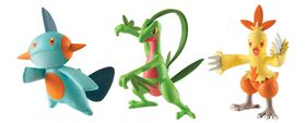 Poke Action Figure 3 Pack - Combusken, Marshtomp and Grovyle