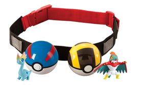 Clip 'N' Carry Poke Ball Belt - Black And Blue Pokeball