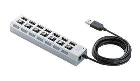 7 Ports USB 2. 0 Hub - High Speed USB Hub - White