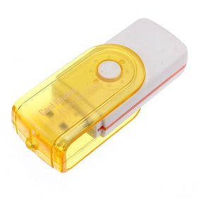 USB 2. 0 Multi Card Reader - White & Yellow