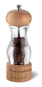 Cole and Mason - Precision 105 Acrylic Beech Salt and Pepper Mill - Gift Set - 16.5 cm