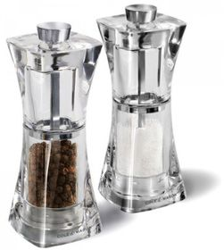 Cole and Mason - Precision Crystal Acrylic Salt and Pepper Mill - Gift Set - 12.5 cm