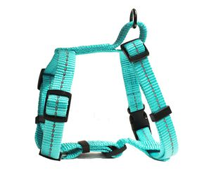 Dog's Life - Reflective Super soft Webbing H Harness - Small - Turquoise