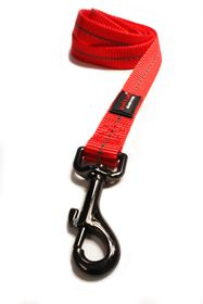 Dog's Life - Reflective Super soft Webbing Leash - Small - Red
