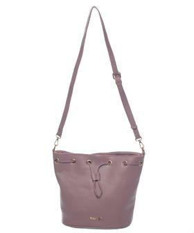 Bossi Ladies Bucket Drawstring Handbag - Purple