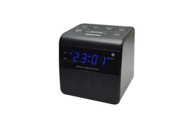 Sinotec Clock Radio and Bluetooth Speaker - Black
