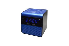 Sinotec Clock Radio and Bluetooth Speaker - Blue