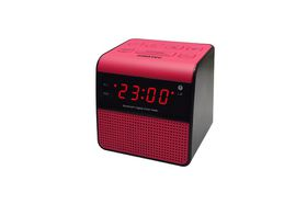 Sinotec Clock Radio and Bluetooth Speaker - Pink