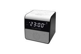 Sinotec Clock Radio and Bluetooth Speaker - White
