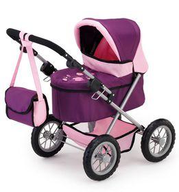 Bayer Trendy Doll's Pram - Purple/Pink