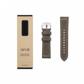AVI-8 -LEATHER STRAP (GREEN) - AV-STRAP24-L03