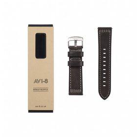 AVI-8 -LEATHER STRAP (DARK BROWN) - AV-STRAP24-L04