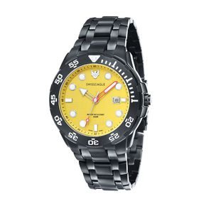 Swiss Eagle-SE-9040-55 Sea Bat with Solid Marine Grade 316 L Stainless Steel Strap Watch