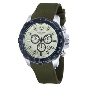 Swiss Eagle-SE-9065-09 HERZOG with Green Sillicon Strap/Light Green Dial Watch