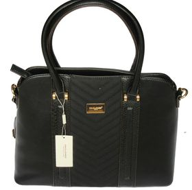 David Jones PU Leather Tote - Black 5215-2
