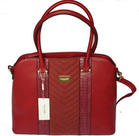 David Jones PU Leather Tote - Bordeaux 5215-2