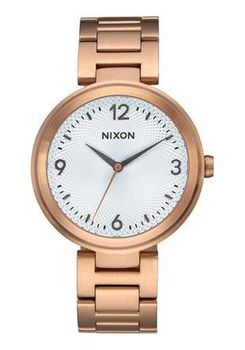 Nixon Chameleon Rose Gold & Silver Watch A9912369-00