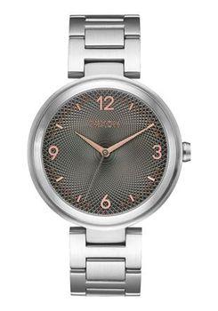 Nixon Chameleon Silver & Gunmetal Watch A9911762-00