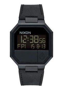 Nixon Re-Run Leather All Black Watch A944001-00