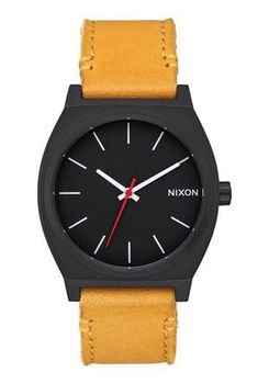 Nixon Time Teller All Black & Goldenrod Watch A0452448-00