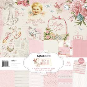 Kaisercraft Peek-A-Boo Girl 12x12 Paper Pack