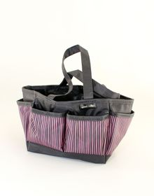 Spoilt Rotten Small Bag - Candy Stripes - Pink