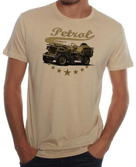 Petrol Clothing Co Men's Jeep T-Shirt - Beige
