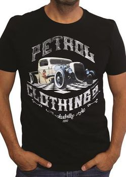 Petrol Clothing Co Men's Rat Rod & Pin-Up T-Shirt - Black