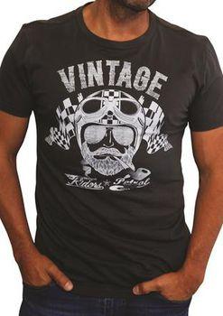 Petrol Clothing Co Men's Vintage Rider T-Shirt - Charcoal