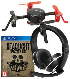 Gioteck XH100 Gaming Headset + Deadlight Director's cut Game + Quadcopter Drone  (PS4)